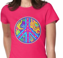 Circle of Peace Tangle with Colours Var 5 Womens Fitted T-Shirt