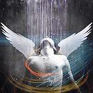 Dark Rain Angel by Vin  Zzep