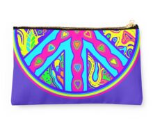 Circle of Peace Tangle with Colours Var 5 Alternate Options Studio Pouch