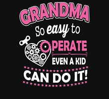 Grandma Easy To Operate Women's Fitted Scoop T-Shirt