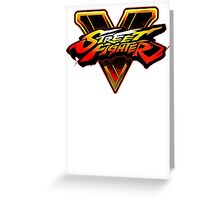 Street Fighter 5 Logo Greeting Card
