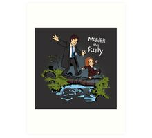 Sculvin and Hobbes Art Print