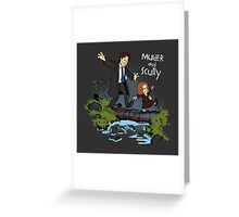 Sculvin and Hobbes Greeting Card