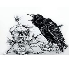 Song Of The Blackest Bird  Photographic Print