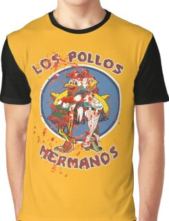 Los Pollos Hermanos (Bloodsplatter) Graphic T-Shirt