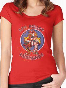 Los Pollos Hermanos (Bloodsplatter) Women's Fitted Scoop T-Shirt