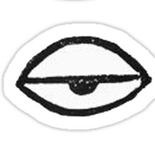 Eyes - minimalism Sticker
