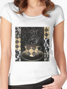 Cafe Noir Harlequin Women's Fitted Scoop T-Shirt
