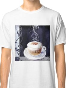 Cafe Blue Latte Classic T-Shirt