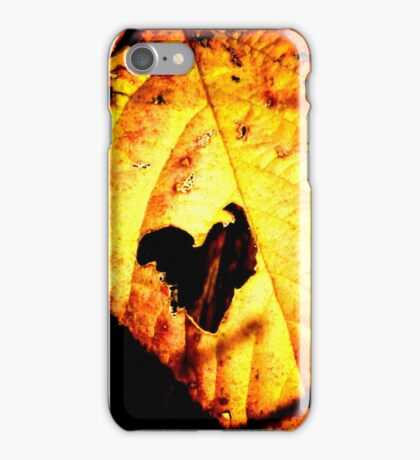 Leaf - hole-hearted (2011) iPhone Case/Skin
