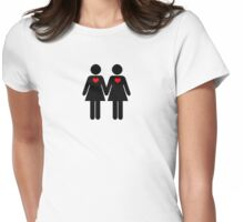 0% Geek Love F Womens Fitted T-Shirt