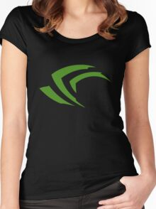 old vintage nvidia geforce Women's Fitted Scoop T-Shirt