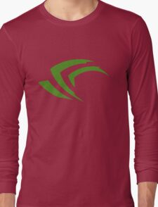 old vintage nvidia geforce Long Sleeve T-Shirt