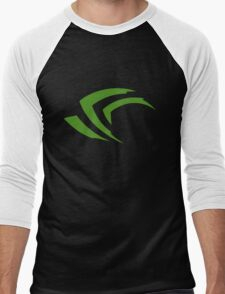 old vintage nvidia geforce Men's Baseball ¾ T-Shirt