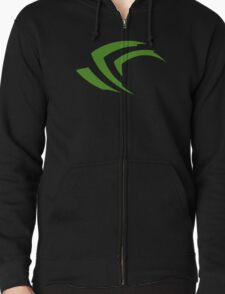 old vintage nvidia geforce Zipped Hoodie