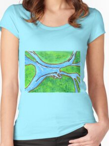Lake Of Many Rivers Women's Fitted Scoop T-Shirt