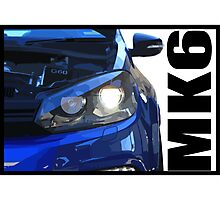 VW Golf R - Front Light Photographic Print