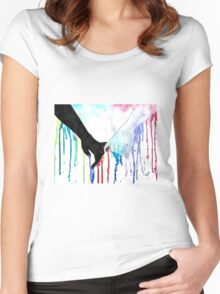 Love Sees No Color Women's Fitted Scoop T-Shirt