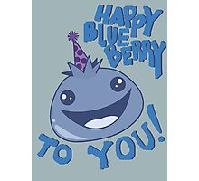 Happy Blueberry to You! Photographic Print
