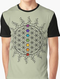 FLOWER OF LIFE, CHAKRAS, SPIRITUALITY, YOGA, ZEN,  Graphic T-Shirt