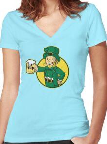 Irish Boy Women's Fitted V-Neck T-Shirt