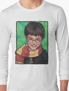 Harry Potter As Portrayed By Actor, Daniel Radcliffe Long Sleeve T-Shirt