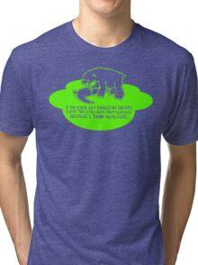 mauled by bears - funny  Tri-blend T-Shirt