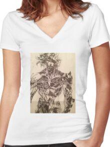 Broken Raiden Women's Fitted V-Neck T-Shirt