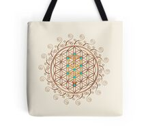 Flower of Life, Tree of Life, Kabbalah, Sephiroth Tote Bag