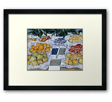 Gustave Caillebotte - Fruit Displayed on a Stand about 1881 - 1882 Framed Print