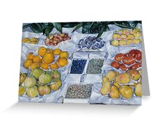 Gustave Caillebotte - Fruit Displayed on a Stand about 1881 - 1882 Greeting Card