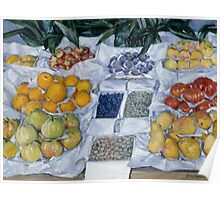 Gustave Caillebotte - Fruit Displayed on a Stand about 1881 - 1882 Poster