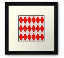 Diamonds and Red Gingham Framed Print