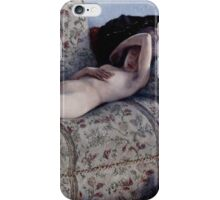 Gustave Caillebotte - Nude on a Couch  1880 iPhone Case/Skin