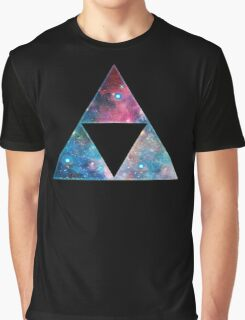 Triforce - Ancient Magical Symbol, Sierpinski Triangle Graphic T-Shirt
