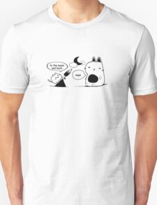The cat and The Moon Text Print Unisex T-Shirt