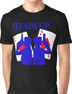 Heads Up Funny Men's Tshirt Graphic T-Shirt