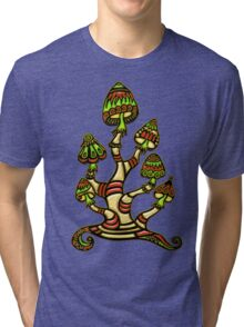 Magic mushrooms, Plants of the Gods, psychedelic, Trance Goa Psy  Tri-blend T-Shirt
