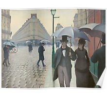 Gustave Caillebotte - Paris Street; Rainy Day 1877 Poster