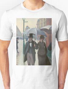 Gustave Caillebotte - Paris Street; Rainy Day 1877 , Landscape Unisex T-Shirt