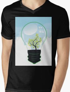 Tree in a Lightbulb Mens V-Neck T-Shirt