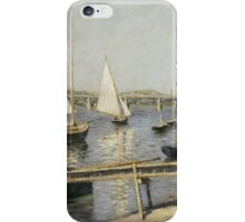 Gustave Caillebotte - Sailing Boats at Argenteuil 1888 iPhone Case/Skin