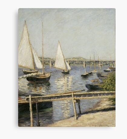 Gustave Caillebotte - Sailing Boats at Argenteuil 1888 , Seascape Canvas Print