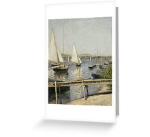 Gustave Caillebotte - Sailing Boats at Argenteuil 1888 , Seascape Greeting Card