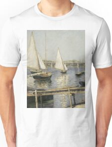 Gustave Caillebotte - Sailing Boats at Argenteuil 1888 , Seascape Unisex T-Shirt