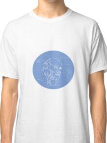 Robot Head Technical Drawing Classic T-Shirt