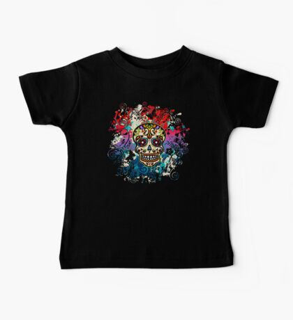 Mexican Sugar Skull, Day of the Dead, Dia de los muertos Baby Tee