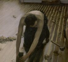 Gustave Caillebotte - The Floor Planers 1875 Sticker