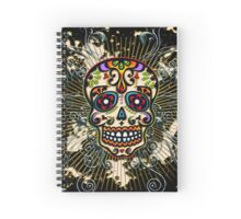 Mexican Sugar Skull, Day of the Dead, Dias de los muertos Spiral Notebook