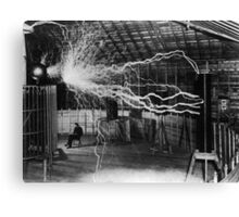 Nikola Tesla - Bolts Of Electricity Canvas Print
